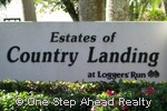 sign for Estates of Country Landing